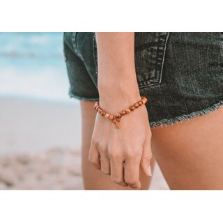 Genuine olive wood cross bracelet handmade wooden jewelry olive wood jewelry also suitable as anklet