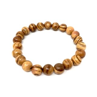Bracelet made of genuine olive wood beads 9mm handmade wooden jewelry jewelry made of olive wood also wearable as anklet