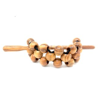 Hair Barrette with Genuine Olive Wood Beads 10mm Handmade Wood Jewelry Jewelry made of olive wood hair band braid hair tie