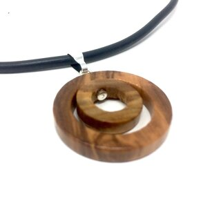 Natural olive wood pendant necklace handmade wooden jewelry olive wood jewelry olive wood jewelry