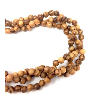 Necklace with natural olive wood beads handmade wooden jewelry olive wood jewelry olive wood jewelry