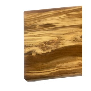 Chopping board large made of olive wood 30x20x2cm handmade in Mallorca meat board kitchen board