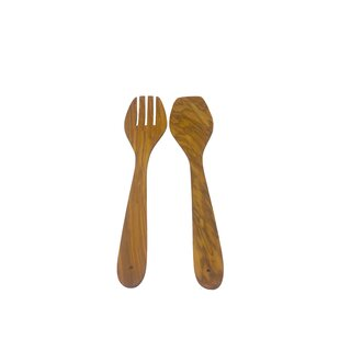 Spatula 30cm 2 parts made of olive wood on Mallorca handmade kitchen utensil roasting turner