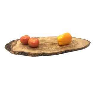 Rustic cutting board 40-50x23-26x2cm made of olive wood handmade on Mallorca wooden board